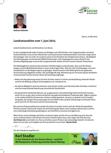 Wahlrundschreiben LR-Wahlen 2014