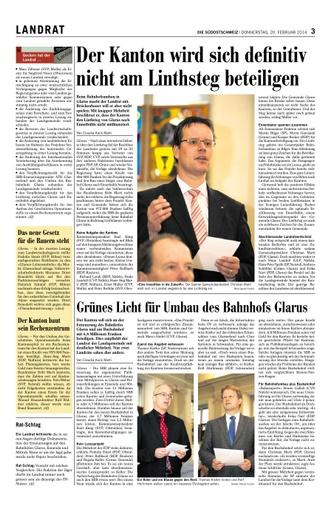 LR Debatte zum Linthsteig & Bahnhofumbau