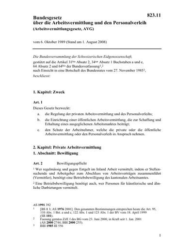 Bundesgesetz über die Arbeitsvermittlung und den Personalverleih