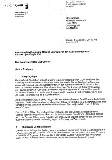Scan DBU Ausnahmebewilligung Rodung Elggis