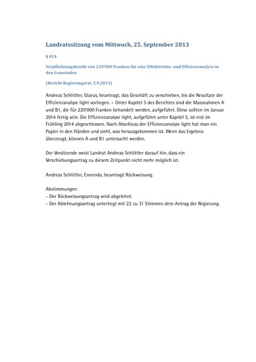 Landratssitzung vom 25. September 2013