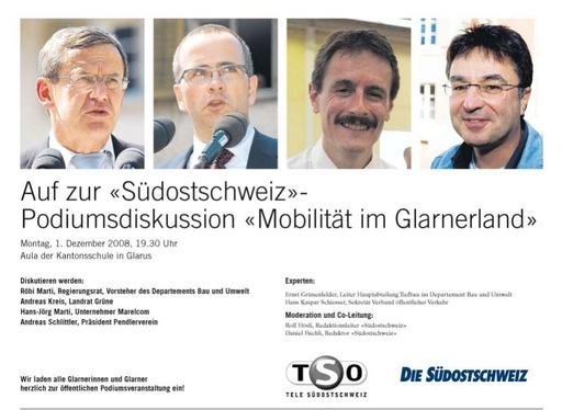 Einladung Podiumsdiskussion SO Mobilität im GL