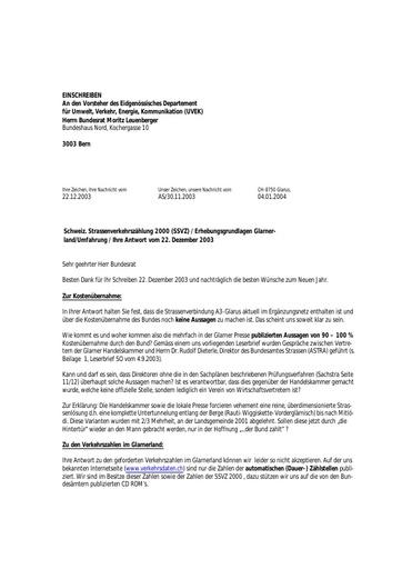 2. Anfrage an das UVEK / Kostenübernahme Bund