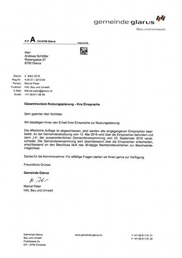 Scan Beilagen Nutzungsplanung Einsprache Entscheide Gemeinde Glarus 1 3