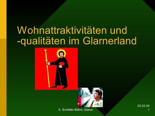 Wohnen GL / Standortmarketing Glarnerland
