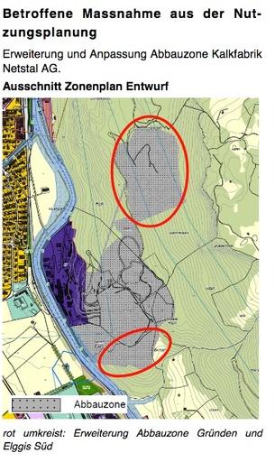 Erweiterung Abbauzonen KFN Gemeinde Glarus Nutzungsplan