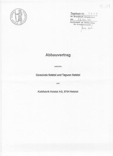 (Beilage 17/17) (Beilage 17/16) Scan Abbauverträge Gemeinde&Ortsgemeinde Netstal 1995 2006