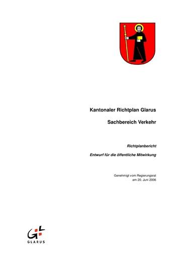 Kantonaler Richtplan Glarus Sachbereich Verkehr