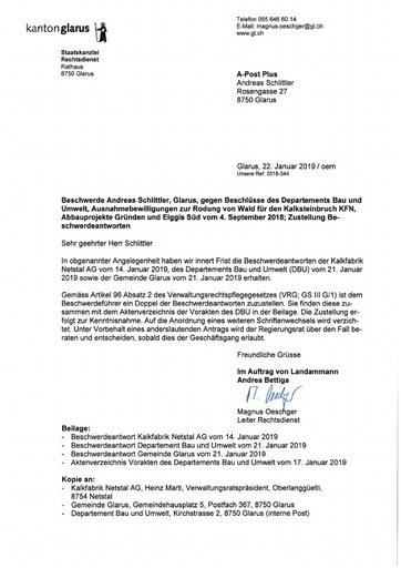 Scan Beschwerdeantworten KFN B&U Gemeinde Glarus 22 01 2019