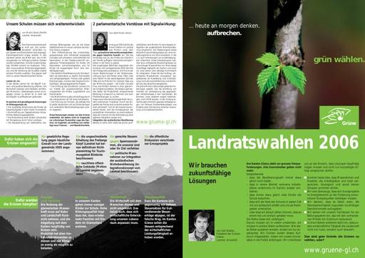 Flyer Landratswahl 2006 Grüne GL