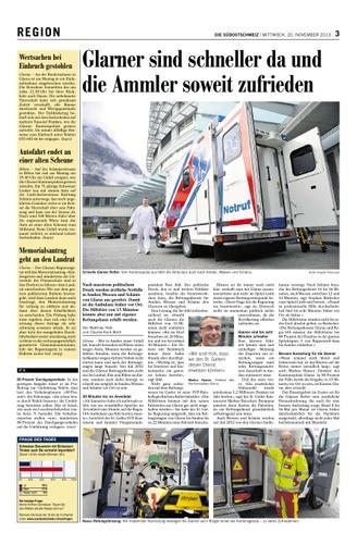 Korrektur des PRO Umfahrung Arguments in der Südostschweiz