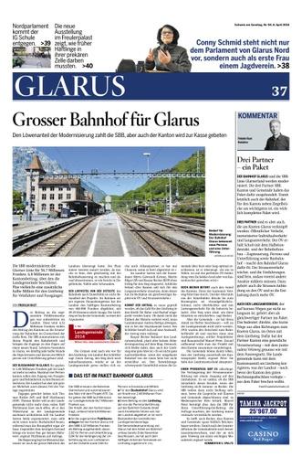 Grosser Bahnhof Glarus