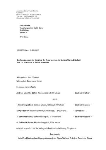 Beschwerde VR Rodungsbewilligungen Entscheid V02